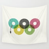 records Wall Tapestries featuring Olympic Records by Jorge Lopez