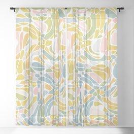 Pastel Pebbles Sheer Curtain