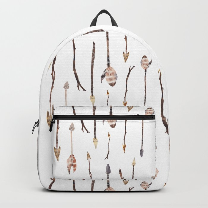 Boho Arrows with Feathers Pattern Backpack