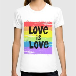 Love is love over the rainbow T-shirt