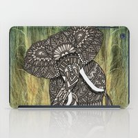 ornate elephant iPad Cases featuring Ornate Elephant by ArtLovePassion