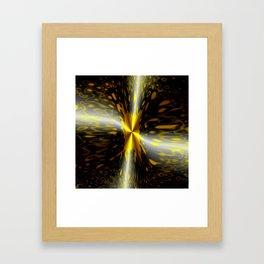 War of Light and Dark Abstract Framed Art Print