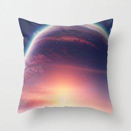 Jupiterian sunset Throw Pillow