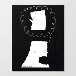 Thinkin' 'bout Kitty Canvas Print