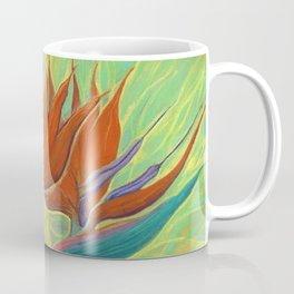 Strelitzia / Bird of Paradise, Tropical Flower, Floral Painting Coffee Mug