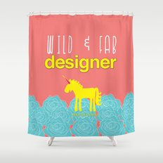 Design and Be Awesome! Shower Curtain