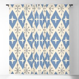 Mid Century Modern Atomic Triangle Pattern 124 Blackout Curtain