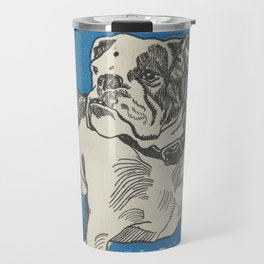 Vintage American Bulldog Illustration (1912) Travel Mug