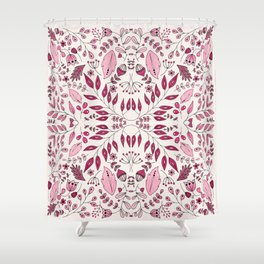 Floral Mix – Pink Shower Curtain