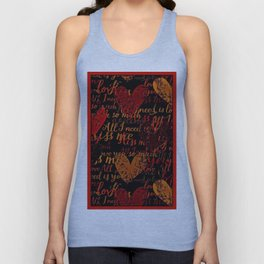 Kiss Me, Miss Me Red Unisex Tank Top
