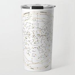 Star Chart of the Northern Hemisphere White Travel Mug