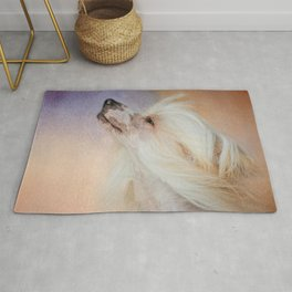 Wind In Her Hair - Chinese Crested Hairless Dog Rug