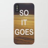 kurt vonnegut iPhone & iPod Cases featuring Kurt Vonnegut - So It Goes - typography Word Art Print - inspirational quotes by BEANLAND
