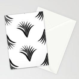 Pandanus Leaf Pattern - Black Stationery Cards