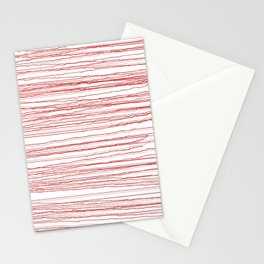 just some red lines Stationery Cards