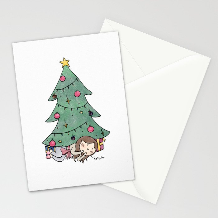 Christmas Surprise Stationery Cards