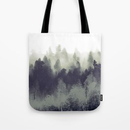 Mountain Forest Abstract Tote Bag