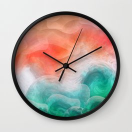 """Coral sand beach and tropical turquoise sea"" Wall Clock"