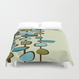 Mid Century Modern Baubles (teal) Duvet Cover