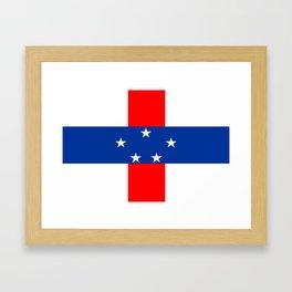 Netherlands Antilles country flag Framed Art Print