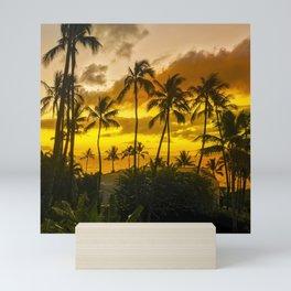 Hawaiian Gold and Tropical Tangerine Sunset Mini Art Print