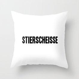 Stierscheisse | German Bullshit - Logotype Throw Pillow