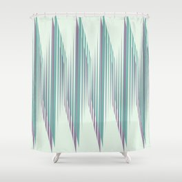 Zig Up, Zig Down Shower Curtain