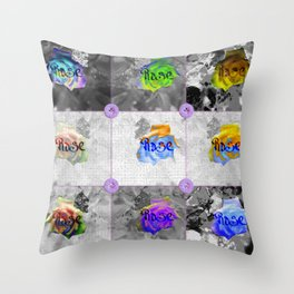 Composition of Roses Throw Pillow