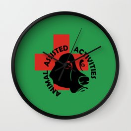 Animal Assisted Activities  - THERAPY DOG logo 7 Wall Clock