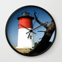 Nauset Lighthouse photography Wall Clock