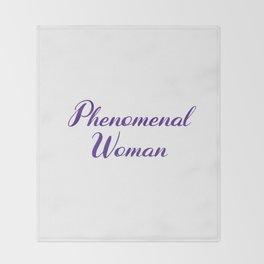Phenomenal Woman Throw Blanket