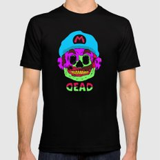 Dead Mario Mens Fitted Tee SMALL Black