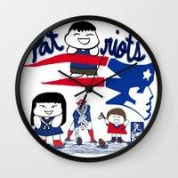 patriots Wall Clocks featuring Team Patriots!  by Happy Positivity