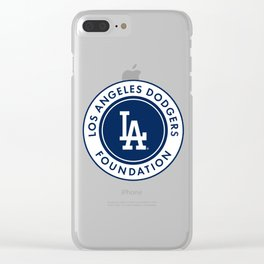 los angeles dodger foundation Clear iPhone Case