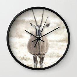 Oryx Posing at Etosha Wall Clock