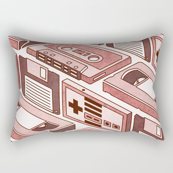 90's pattern Rectangular Pillow
