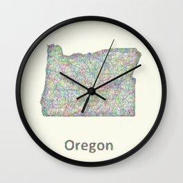 Oregon map Wall Clock