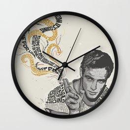 Marlon Brando Quote Wall Clock