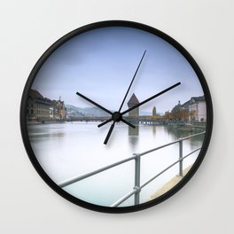 Lucerne Upriver Wall Clock
