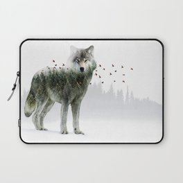 Wild I Shall Stay | Wolf Laptop Sleeve