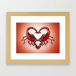 Loving Scorpions Framed Art Print