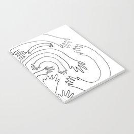 Minimalist Hand Maze Notebook