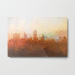 Fort Worth, Texas Skyline - In the Clouds Metal Print