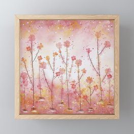 Pink Field of Flowers Framed Mini Art Print