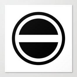 Curtis Holt Logo (Black) Canvas Print
