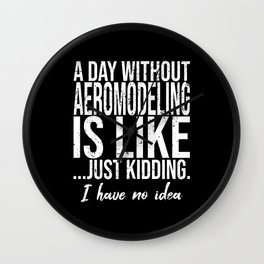 Aeromodeling funny sports gift Wall Clock
