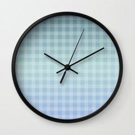 Checkered gingham stripes Wall Clock