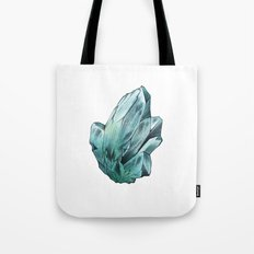 Turquoise Crystal Tote Bag