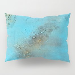 Earth. Texture. Blue. Jodilynpaintings. Brown. Abstract. Earths Crust. Pillow Sham