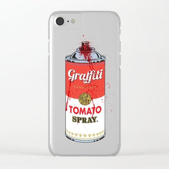 Graffiti Tomato Spray Can Clear iPhone Case